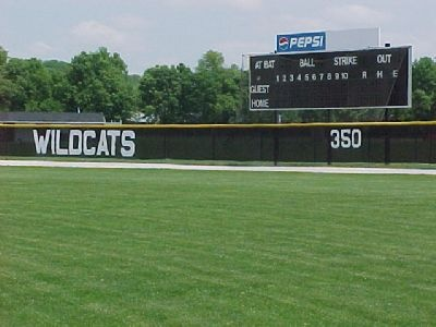 Wildcats Outfield Fence